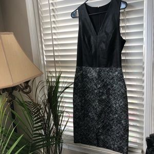 Ann Taylor Black and White Dress
